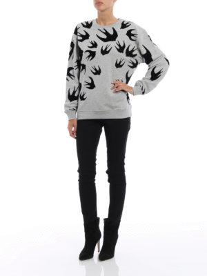 Mcq: Sweatshirts & Sweaters online - Velvet Swallow sweatshirt