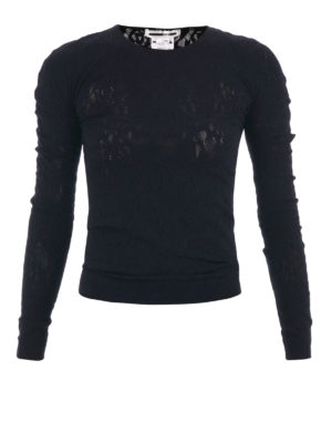Mcq: Sweatshirts & Sweaters - Stretch lace fitted sweater
