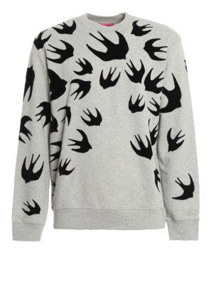 Mcq: Sweatshirts & Sweaters - Swallow appliques sweatshirt