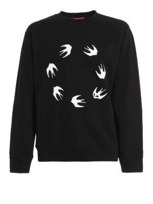 Mcq: Sweatshirts & Sweaters - Swallow print sweatshirt