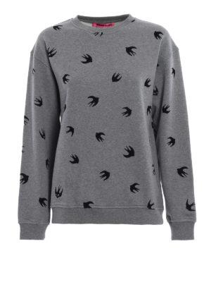 Mcq: Sweatshirts & Sweaters - Velvet Micro Swallow sweatshirt