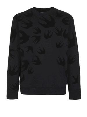 MCQ: Felpe e maglie - Felpa nera Swallow in velluto