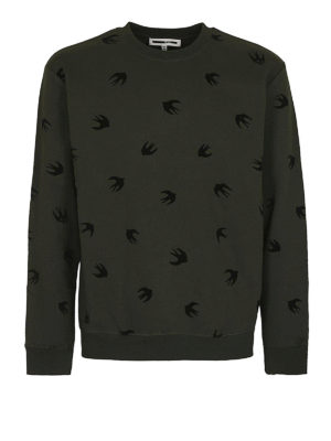 MCQ: Felpe e maglie - Felpa verde Swallow in velluto