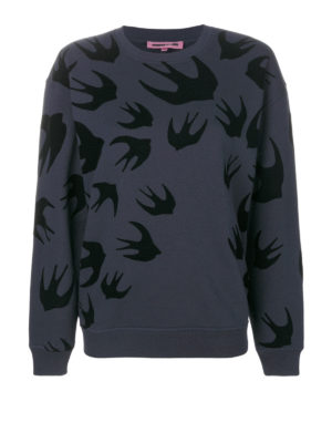 Mcq: Sweatshirts & Sweaters - Velvet Swallow pattern sweatshirt