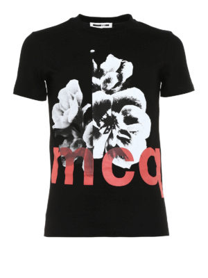 Mcq: t-shirts - Floral print T-shirt