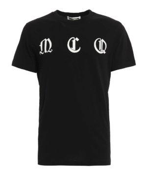 Mcq: t-shirts - Logo lettering print T-shirt