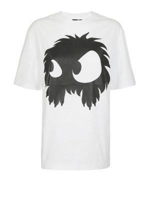MCQ: t-shirt - T-shirt bianca con stampa mostro