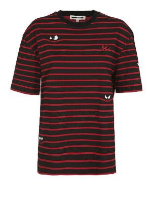 MCQ: t-shirt - T-shirt a righe motivo Monster