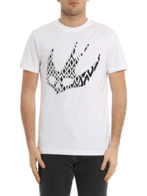 Mcq: t-shirts online - Swallow embroidered patch T-shirt