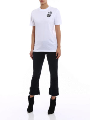 Mcq: t-shirts online - Swallow embroidered T-shirt