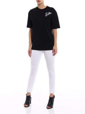 Mcq: t-shirts online - Swallow patches cotton T-shirt