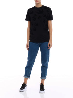 Mcq: t-shirts online - Swallow patterned T-shirt