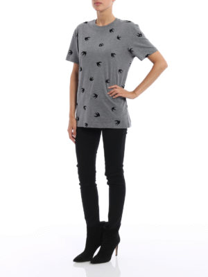 Mcq: t-shirts online - Velvet Micro Swallow T-shirt