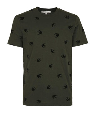 MCQ: t-shirt - T-shirt Swallow cotone verde scuro