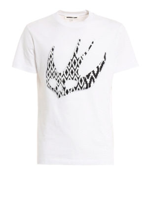 Mcq: t-shirts - Swallow embroidered patch T-shirt