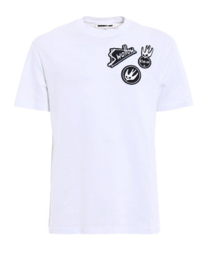 Mcq: t-shirts - Swallow embroidered patches T-shirt