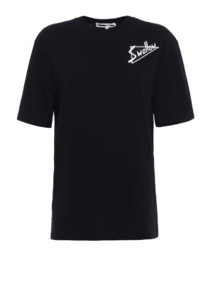 Mcq: t-shirts - Swallow patches cotton T-shirt
