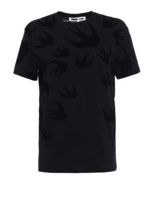 Mcq: t-shirts - Swallow patterned T-shirt