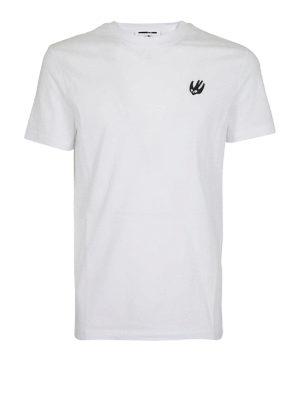 MCQ: t-shirt - T-shirt bianca patch Swallow