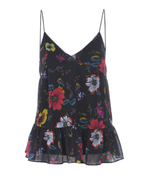Mcq: Tops & Tank tops - Floral georgette tank top