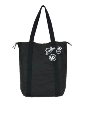 Mcq: totes bags - Nylon tote with Swallow patches