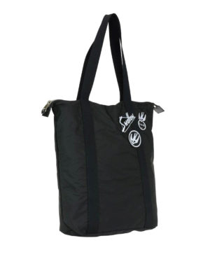 Mcq: totes bags online - Nylon tote with Swallow patches