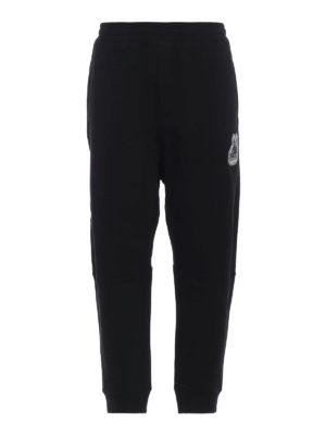 MCQ: pantaloni sport - Joggers in cotone con patch e ricami