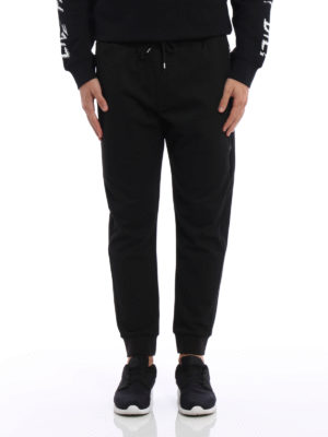 Mcq: tracksuit bottoms online - Pique tapered sweatpants