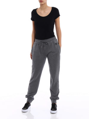 Mcq: tracksuit bottoms online - Swallow patch melange grey tracks