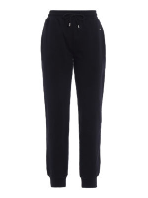 Mcq: tracksuit bottoms - Swallow patch black tracks