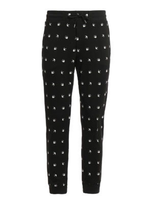 Mcq: tracksuit bottoms - Swallow patterned jersey trousers