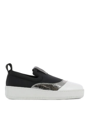 Mcq: trainers - Metallic detailed slip-on sneakers
