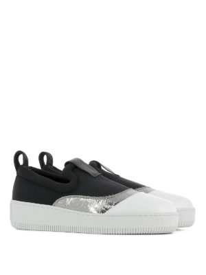 Mcq: trainers online - Metallic detailed slip-on sneakers