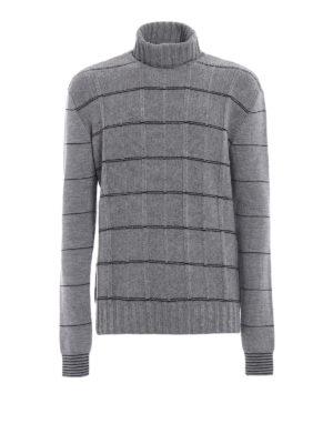 MCQ: maglia a collo alto e polo - Dolcevita grigio in lana a quadri