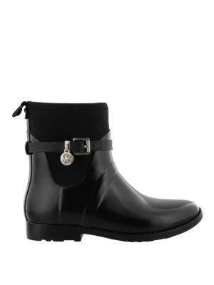 MICHAEL KORS: tronchetti - Stivali da pioggia in gomma nera