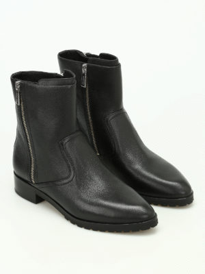Michael Kors: ankle boots online - Andi Flat leather ankle boots