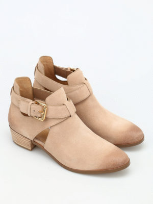 Michael Kors: ankle boots online - Mercer buckled suede booties