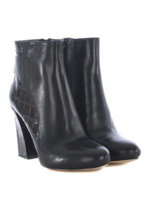 Michael Kors: ankle boots online - Mira black leather booties