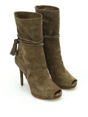 Michael Kors: ankle boots online - Rosalie open toe suede booties