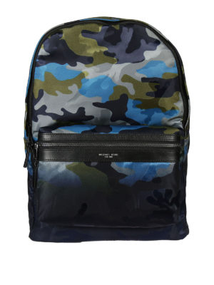 Michael Kors: backpacks - Camouflage fabric backpack