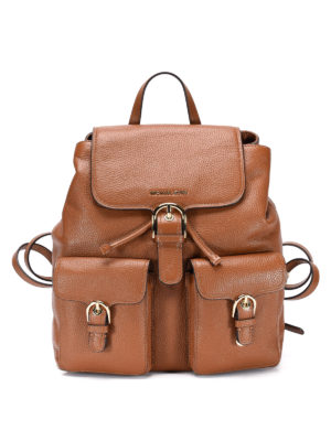 Michael Kors: backpacks - Hammered leather backpack