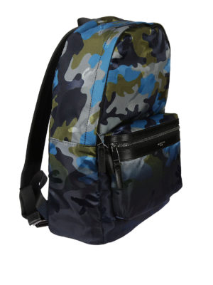 Michael Kors: backpacks online - Camouflage fabric backpack