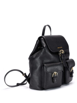 Michael Kors: backpacks online - Hammered leather backpack