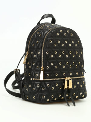 Michael Kors: backpacks online - Rhea backpack with metal eyelets