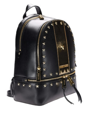 Michael Kors: backpacks online - Rhea black and gold backpack