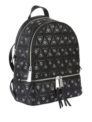 Michael Kors: backpacks online - Rhea eyelet black backpack