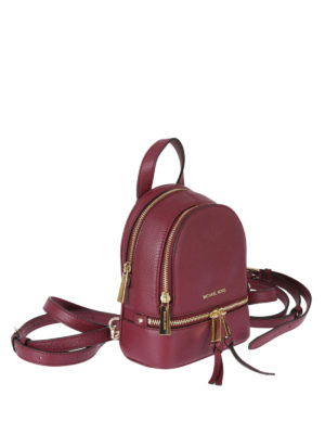 Michael Kors: backpacks online - Rhea mulberry leather backpack