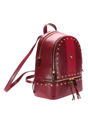 Michael Kors: backpacks online - Rhea red backpack