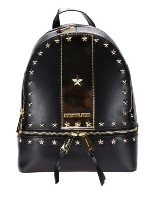 Michael Kors: backpacks - Rhea black and gold backpack