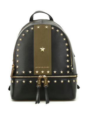 Michael Kors: backpacks - Rhea black and olive backpack